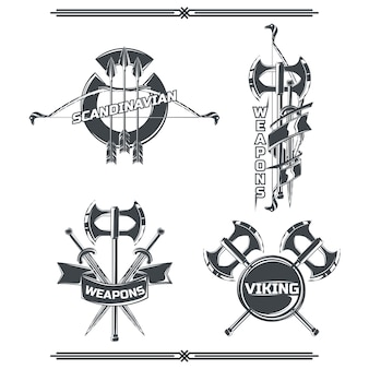 Set of viking's emblems
