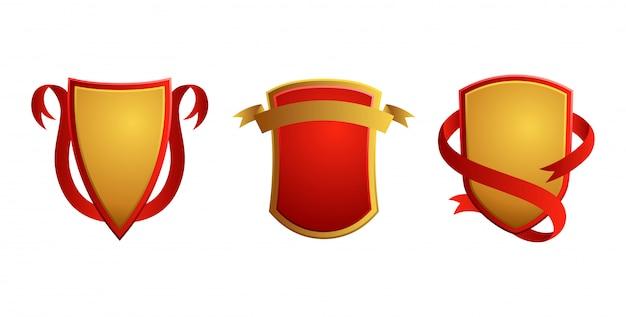 Set of vintage badges. shields with ribbons. sale, premium quality, best choice, original  labels.
