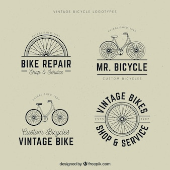 Set of vintage bicycle logos