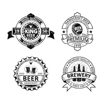 Set of vintage brewery badges