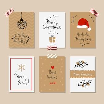 Set of vintage christmas cards