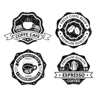 Set of vintage coffee badges
