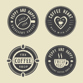 Set of vintage coffee logos, labels and emblems