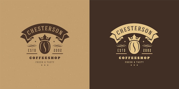Set of vintage coffee shop logos