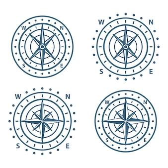 Set of vintage compass