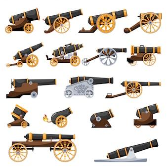 Set vintage gun