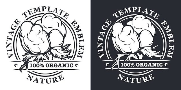 Set of vintage illustrations on the theme of organic materials, natural production.