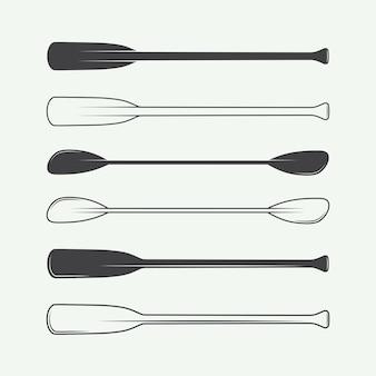 Set of vintage paddles