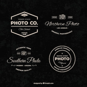 Set of vintage photography logotypes