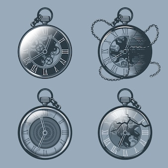 Set of vintage pocket watches