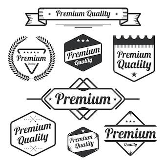Set of vintage premium quality elements