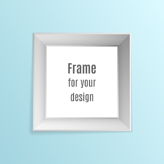Set of vintage realistic photo frames isolated on transparent background.