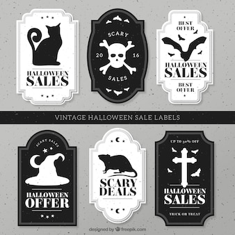 Set of vintage sales halloween stickers