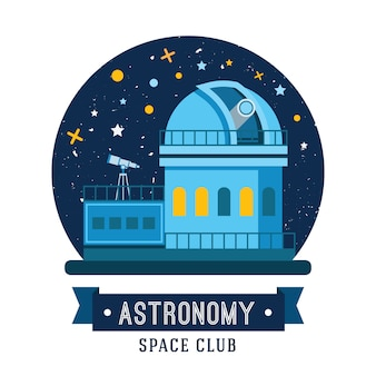 Set of vintage space and astronaut badges, emblems, logos and labels.