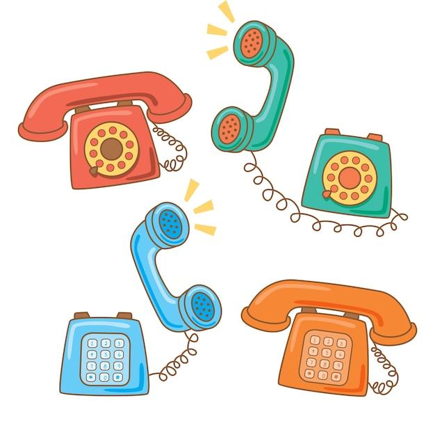 Set of vintage telephone