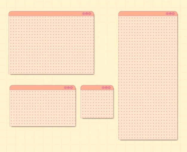 Set of vintage windows tab for design element