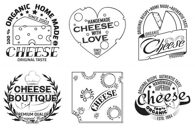 Set of vintge emblem