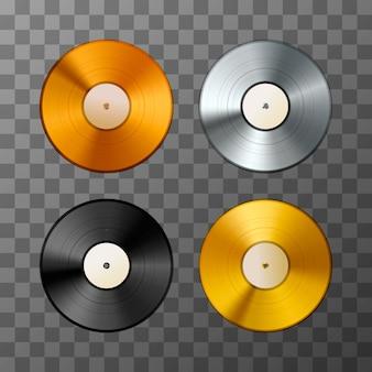 Set of vinyl discs