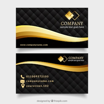 Set of vip cards with abstract design