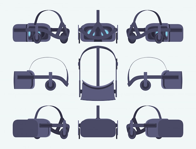 Set of the virtual reality headsets