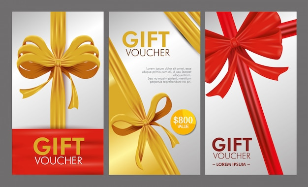 Set of voucher with special sale