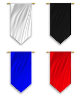 Set wall hanged pennant