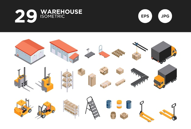 倉庫のアイソメ設計ベクトルを設定します