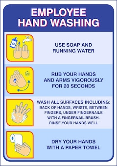 Set of wash your hand mandatory sign for employee or warning sign corona virus poster or 2019ncov