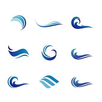 Set of water logo design template