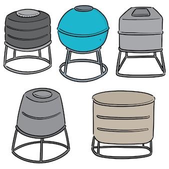 Set of water storage tanks