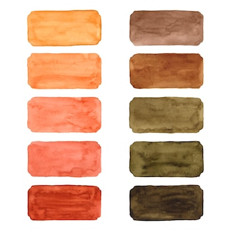 Set of watercolor brush strokes Free Vector