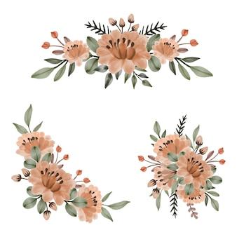수채화 꽃 꽃다발 설정