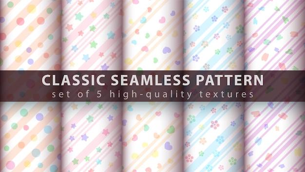 Set watercolor pattern
