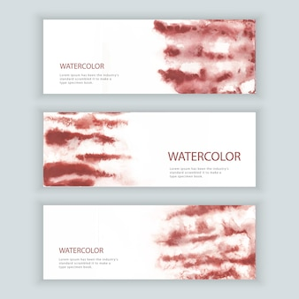 Set of watercolor web banner
