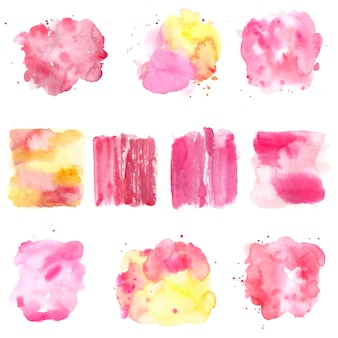 Set of watercolour backgrounds and banners.