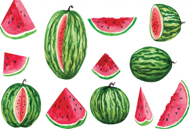 Set watermelons