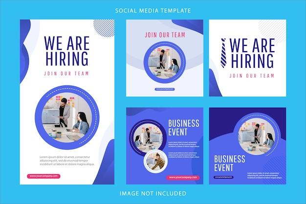 Set we are hiring design template. join team our now illustration.