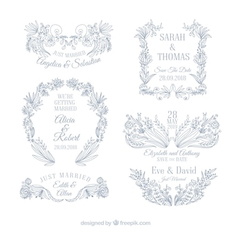 Set of wedding ornaments