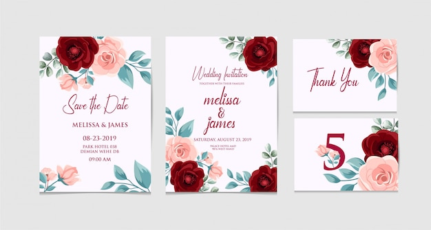 Set wedding with classic color