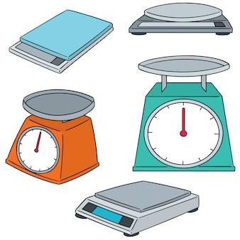 Set of weighing machine