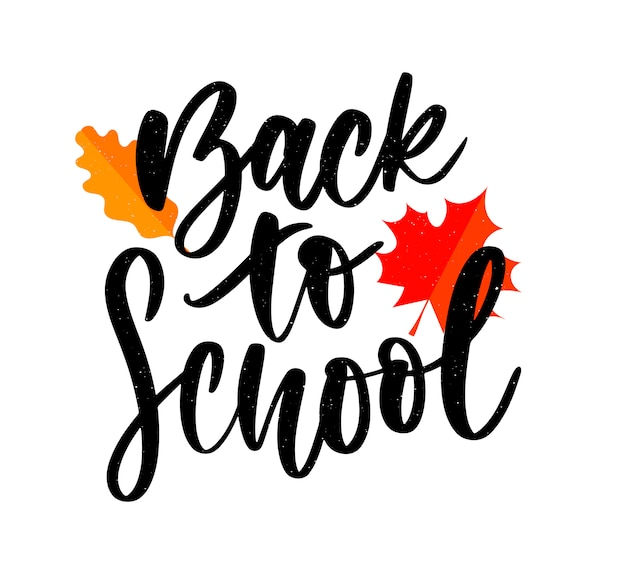 Set of welcome back to school labels