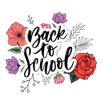 Set of welcome back to school labels.