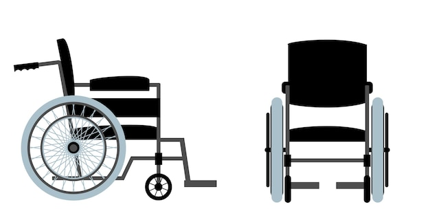 Set of wheelchair for disabled person