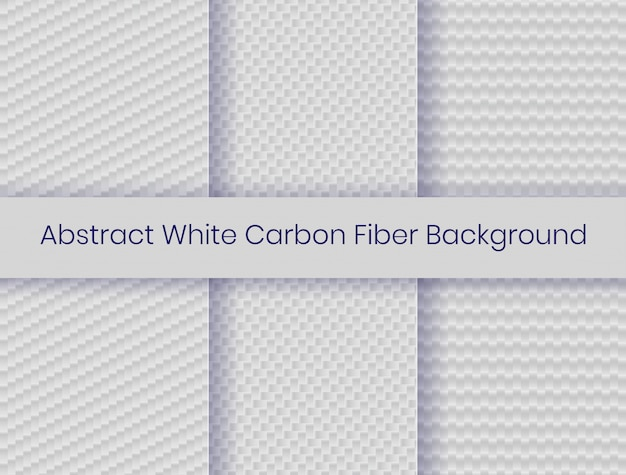 Set of white carbon fiber background