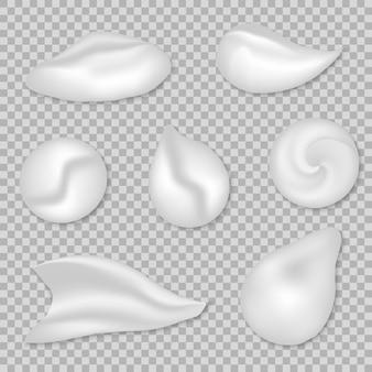 Set of white cream
