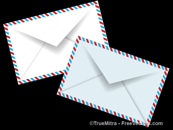 Set of white envelopes vector