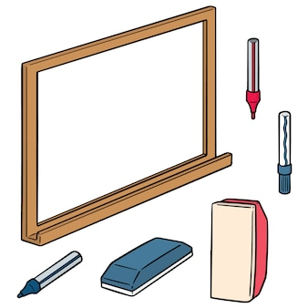 Set of whiteboard and writing equipment