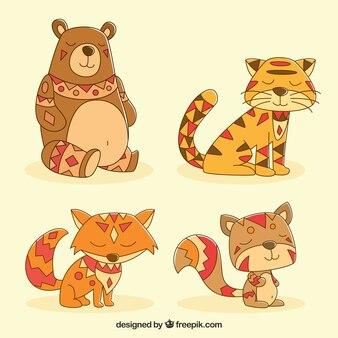 Set di animali selvatici etnici