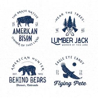Set of wilderness badges