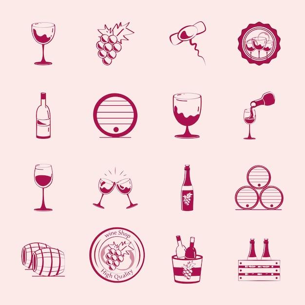 Set of wine drink